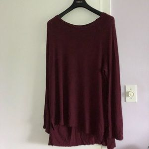 American Eagle long Sleeve Tee- Burgundy
